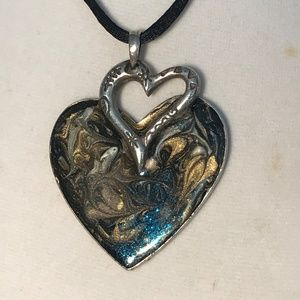 Chico's Must Have Enamel HEART Necklace